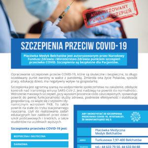 Autoryzowany punkt szczepień przeciwko COVID-19 w Medyk Bełchatów
